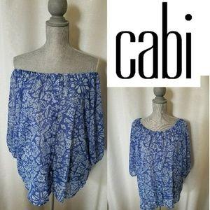 CAbi Off Shoulder Blouse Sz S